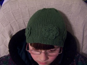 Flowered Alpaca Hat