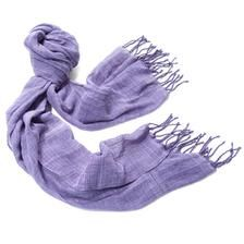 Purple-Cotton-Gauze-Scarf