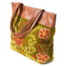 olive peruvian bag